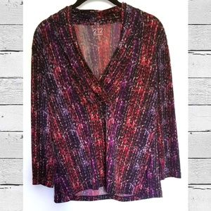 212 Collection Blouse Top Size Small S Burgandy